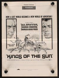 9z184 KINGS OF THE SUN pressbook '64 art of Yul Brynner with spear fighting George Chakiris!