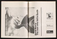 9z198 MAN WHO FELL TO EARTH pressbook '76 Nicolas Roeg, David Bowie close up profile!