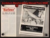 9z200 MARLOWE pressbook '69 sexy Sharon Farrell's legs & James Garner with booze and gun in hands!
