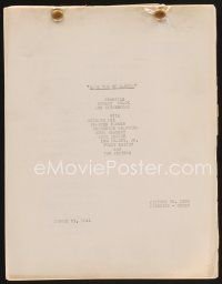 9z110 BADLANDS OF DAKOTA continuity & dialogue script August 21, 1941, screenplay by Gerald Geraghty