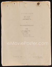 9z117 DALTONS RIDE AGAIN continuity & dialogue script Oct 26 1945 screenplay by Gangelin & Chanslor