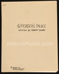 9z123 GREASER'S PALACE script '71 screenplay by Robert Downey Sr.!