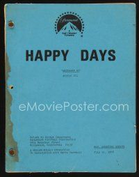 9z125 HAPPY DAYS TV revised shooting script July 31, 1978, screenplay for Westward Ho!