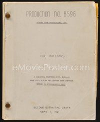 9z131 INTERNS revised second estimating script August 30, 1961, screenplay by Newman & Swift!