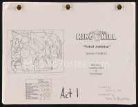 9z133 KING OF THE HILL final story board TV script June 24, 1999, screenplay by Aibel & Berger!
