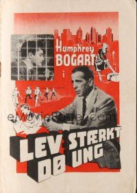 9z345 KNOCK ON ANY DOOR Danish program '49 different images of Humphrey Bogart, Nicholas Ray!