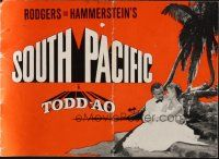9z359 SOUTH PACIFIC Danish program '58 Rossano Brazzi, Gaynor, Rodgers & Hammerstein, different!