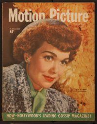 9z078 MOTION PICTURE magazine November 1946, close portrait of Jane Wyman by Mead-Maddick!
