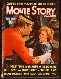 9z089 MOVIE STORY magazine August 1939 Shirley Temple & Randolph Scott in Susannah of the Mounties!