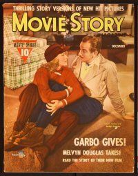 9z090 MOVIE STORY magazine December 1941, Greta Garbo & Melvyn Douglas from Two-Faced Woman!