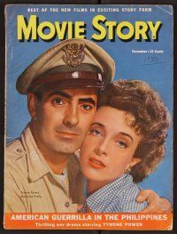 9z092 MOVIE STORY magazine Dec 1950 Tyrone Power & Presle in American Guerilla in the Philippines!