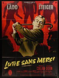 1b005 13 WEST STREET French 1p '62 different art of Alan Ladd swinging cane by Boris Grinsson!