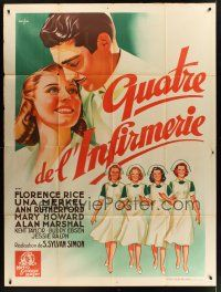 1b007 4 GIRLS IN WHITE French 1p '39 different art of pretty nurses by Boris Grinsson!