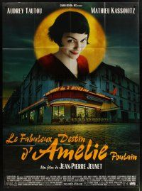 1b009 AMELIE storefront style French 1p '01 Jean-Pierre Jeunet, Audrey Tautou by Laurent Lufroy!