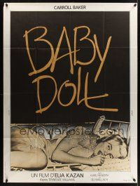1b013 BABY DOLL French 1p R70s Elia Kazan, classic image of sexy troubled teen Carroll Baker!