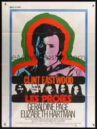 1b015 BEGUILED style B French 1p '71 different art of Clint Eastwood & Geraldine Page, Don Siegel