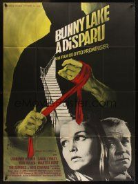 1b020 BUNNY LAKE IS MISSING French 1p '66 Otto Preminger, different art by Georges Kerfyser!