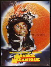 1b028 CLOCKWORK ORANGE French 1p R82 Stanley Kubrick classic, best art of Malcolm McDowell!