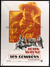 1b030 COWBOYS French 1p '72 big John Wayne gave these young boys their chance to become men!