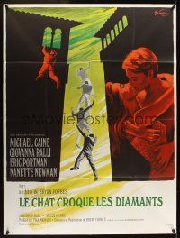 1b036 DEADFALL French 1p '68 Michael Caine, Giovanna Ralli, Bryan Forbes, different Grinsson art!
