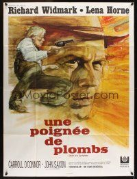 1b038 DEATH OF A GUNFIGHTER French 1p '69 different art of Richard Widmark by Rene Ferracci!