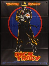 1b045 DICK TRACY French 1p '90 cool art of Warren Beatty as Chester Gould's classic detective!