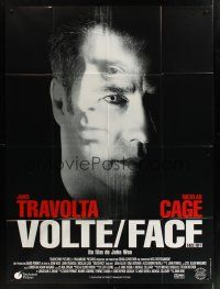 1b052 FACE/OFF French 1p '97 John Travolta and Nicholas Cage switch faces, John Woo, different!