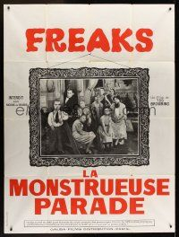 1b059 FREAKS French 1p R60s Tod Browning classic, great portrait of sideshow cast!