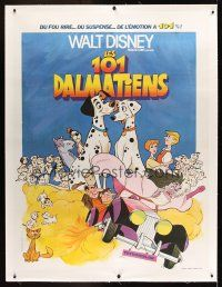 1g031 ONE HUNDRED & ONE DALMATIANS linen French 1p R73 classic Disney canine cartoon, Fourastie art!