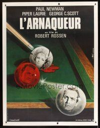 1g023 HUSTLER linen French 1p R82 best art of Paul Newman, Piper Laurie & George C. Scott by Mascii!