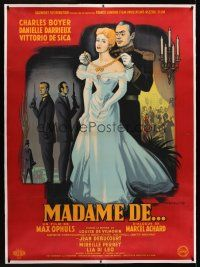 1g026 MADAME DE linen style B French 1p '53 completely different art of Boyer & Darrieux by Rojac!