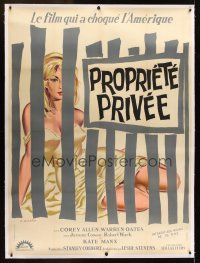 1g033 PRIVATE PROPERTY linen French 1p '60 different Allard art of sexy Kate Manx behind bars!