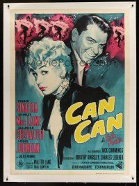 1g048 CAN-CAN linen Italian 1p R65 different artwork of Frank Sinatra & Shirley MacLaine!