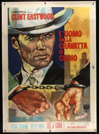 1g043 COOGAN'S BLUFF linen Italian 2p '68 different art of Clint Eastwood by Favalli/Volcarenghi!