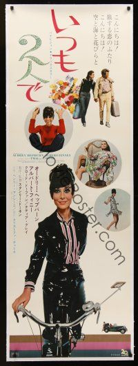 1g014 TWO FOR THE ROAD linen Japanese 2p '67 Audrey Hepburn & Albert Finney, different images!