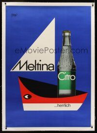 1g069 MELTINA CITRO linen Swiss advertising poster '65 cool beverage art by Piatti Celestino!