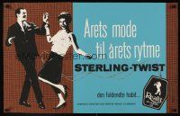 1j049 STERLING-TWIST Danish clothing advertising poster '60s clothes created for the dance craze!