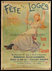1j020 FETES DES LOGES linen French 31x47 advertising poster '22 Forest of Saint Germain-en-Lay!