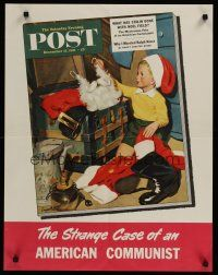 1j064 SATURDAY EVENING POST DECEMBER 15, 1951 special 22x28 '51 Sargent art of boy at Christmas!