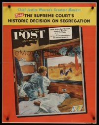 1j069 SATURDAY EVENING POST JULY 24, 1954 special 22x28 '54 Hughes art of boy on train in West!