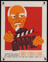 1j073 TRIBUTE TO ROBERT ALTMAN film festival silkscreen 18x24 '08 signed and numbered!