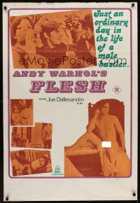 1k013 ANDY WARHOL'S FLESH Aust 1sh '68 great different images of nude Joe Dallesandro!