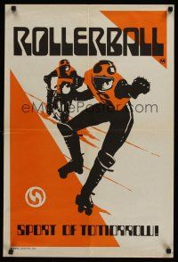 1k017 ROLLERBALL teaser Aust special poster '75 wonderful completely different skating art!
