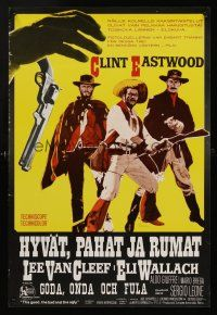 1k009 GOOD, THE BAD & THE UGLY Finnish '68 Clint Eastwood, Lee Van Cleef, Eli Wallach, different!