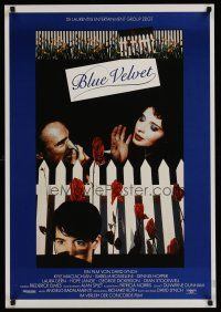 1k028 BLUE VELVET German '87 directed by David Lynch, sexy Isabella Rossellini, Kyle McLachlan!