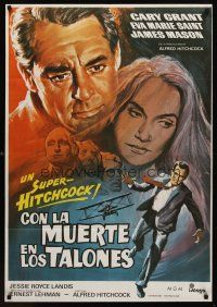 1k056 NORTH BY NORTHWEST Spanish R80 Cary Grant, Eva Marie Saint, Alfred Hitchcock classic!