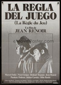 1k058 RULES OF THE GAME Spanish R80s Jean Renoir's classic Le regle du jeu, Nora Gregor, Dubost!