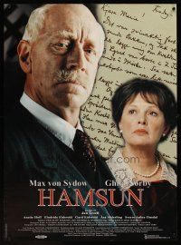1k062 HAMSUN Swedish 24x33 '96 Jan Troell directed, cool portrait of Max von Sydow & Ghita Norby!