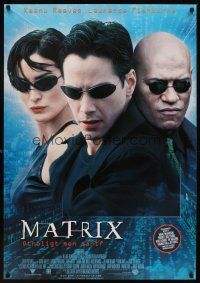 1k066 MATRIX DS Swedish '99 Keanu Reeves, Carrie-Anne Moss, Laurence Fishburne, Wachowski Bros!