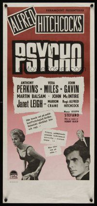 1k070 PSYCHO Swedish stolpe '60 Alfred Hitchcock, sexy half-dressed Janet Leigh & Anthony Perkins!